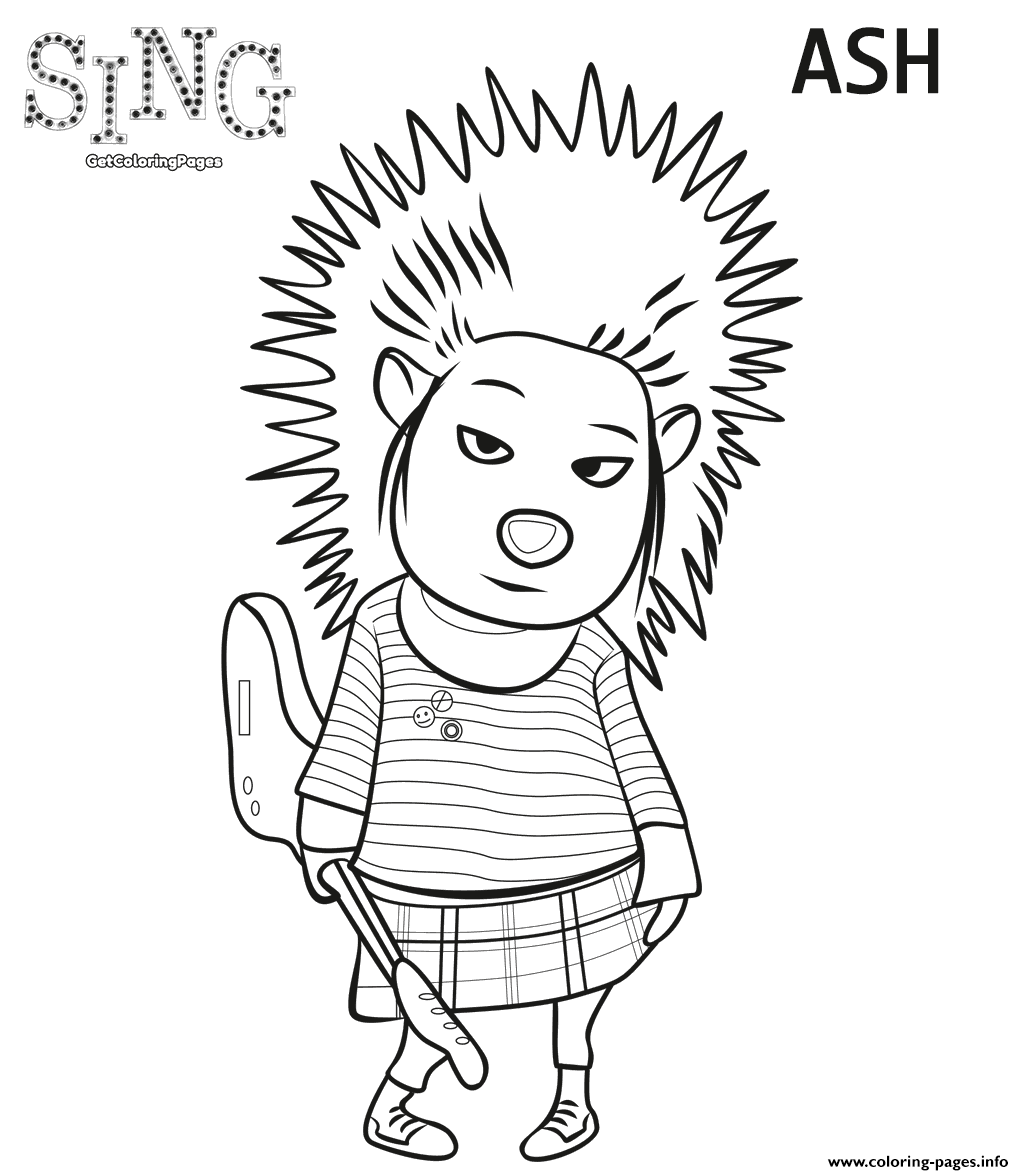 Porcupine From Sing 2016 Coloring Pages Printable