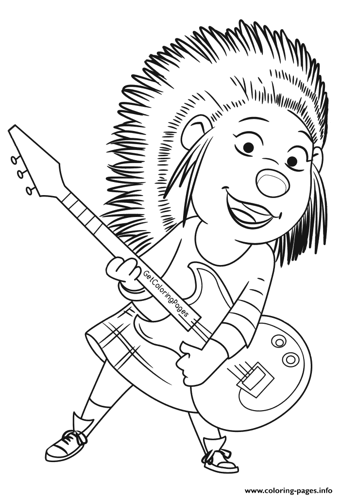Sing Movie Black And White Coloring Coloring Pages Printable
