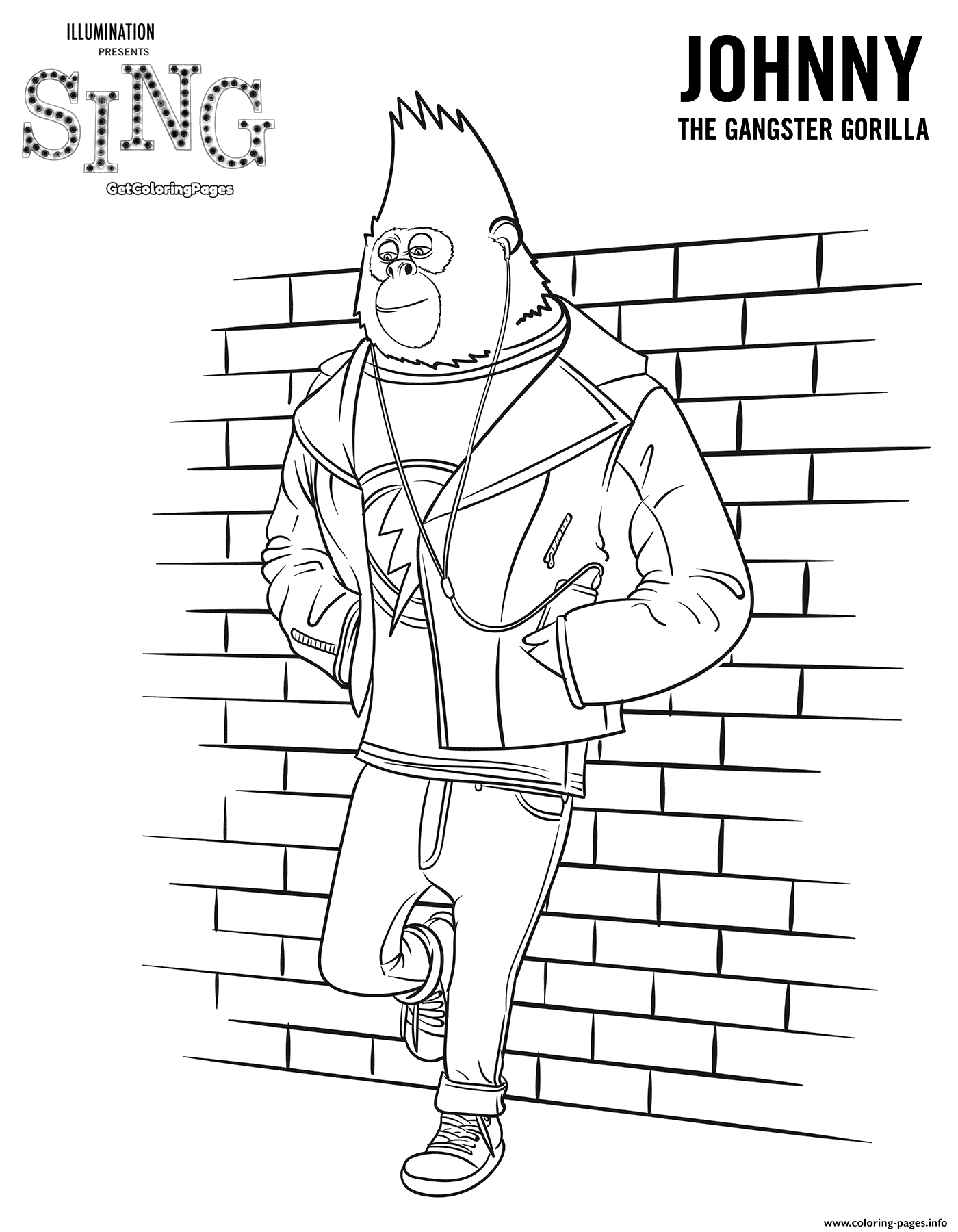 Gorilla Sing Movie Colouring Pages Coloring Pages Printable