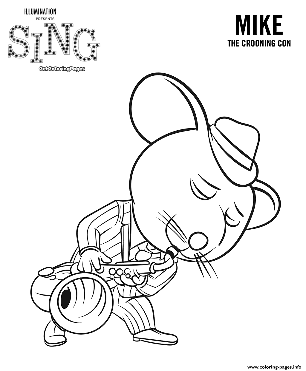 Coloring pages sing