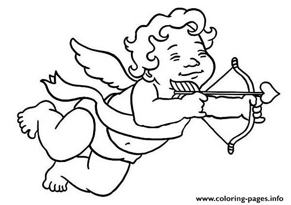 Little Cubby Boy Cupid coloring pages