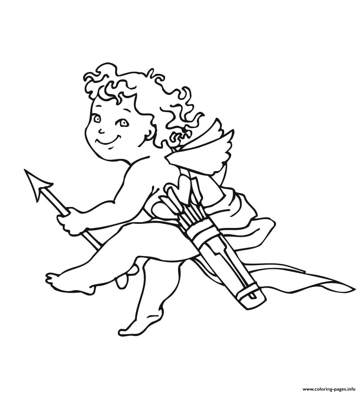 Valentines Day Cupid coloring pages