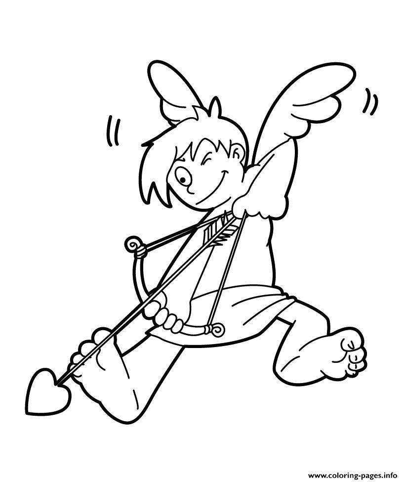 Cupid Valentines Day Coloring Pages