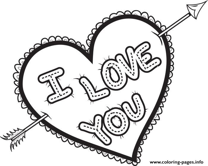 I Love You Coloring Pages Pdf : I love you valentines coloring pages printable