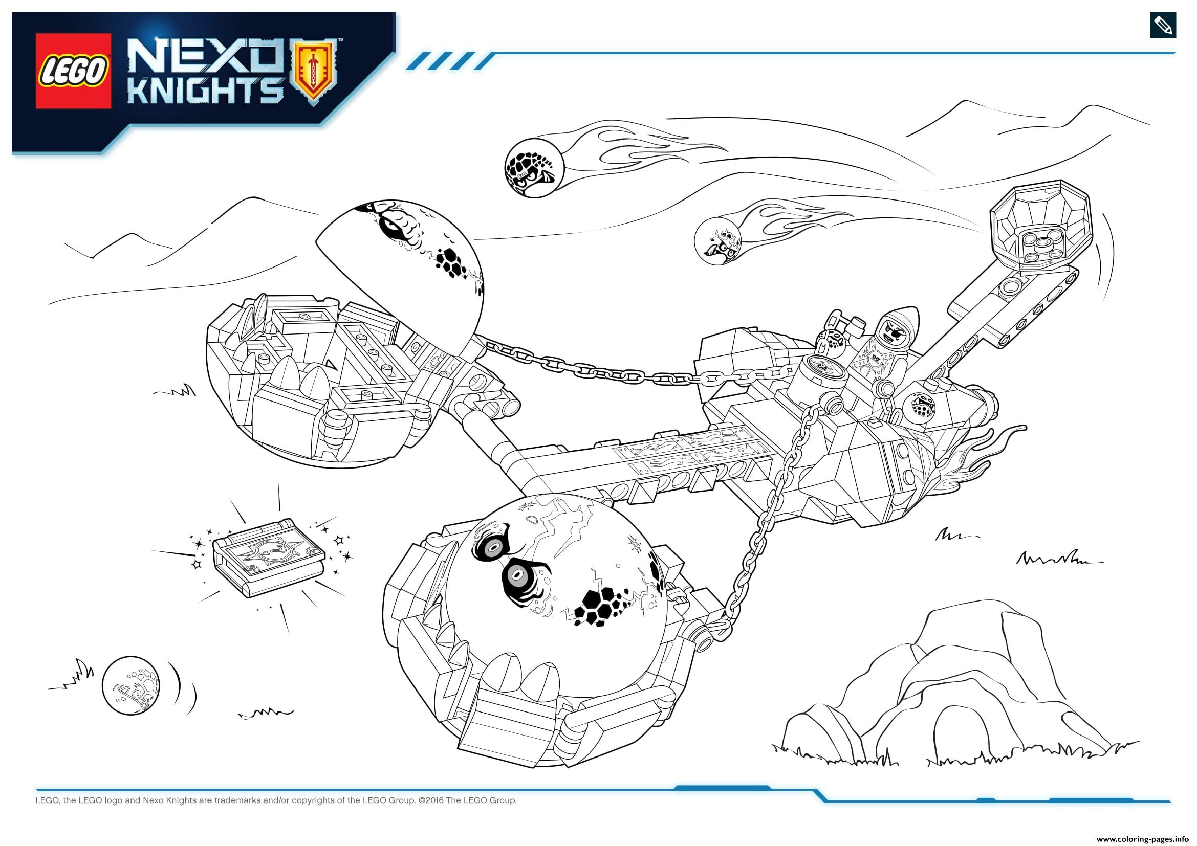 Lego Nexo Knights LE REPAIRE VOLCANIQUE