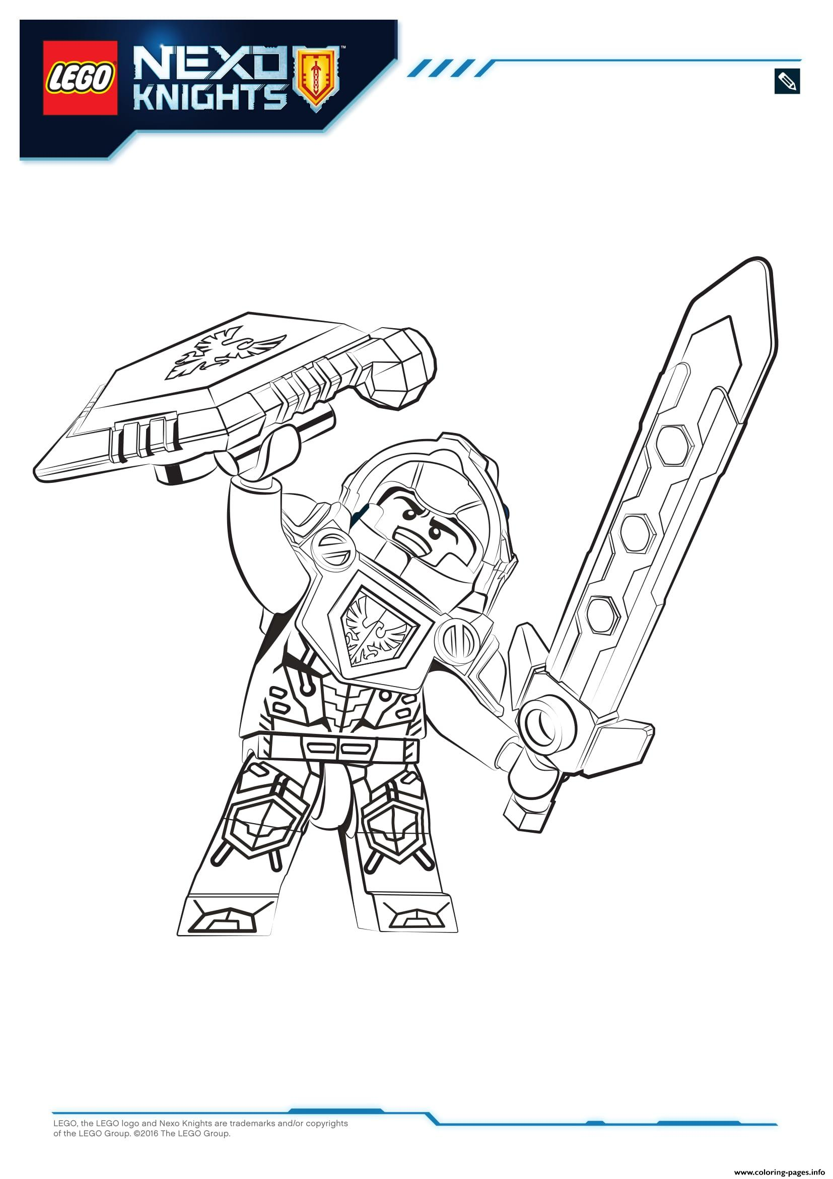 Lego Nexo Knights Clay Ausmalbilder : Nexo Knight Coloring Pages Lego Nexo Knights Coloring Pages Free