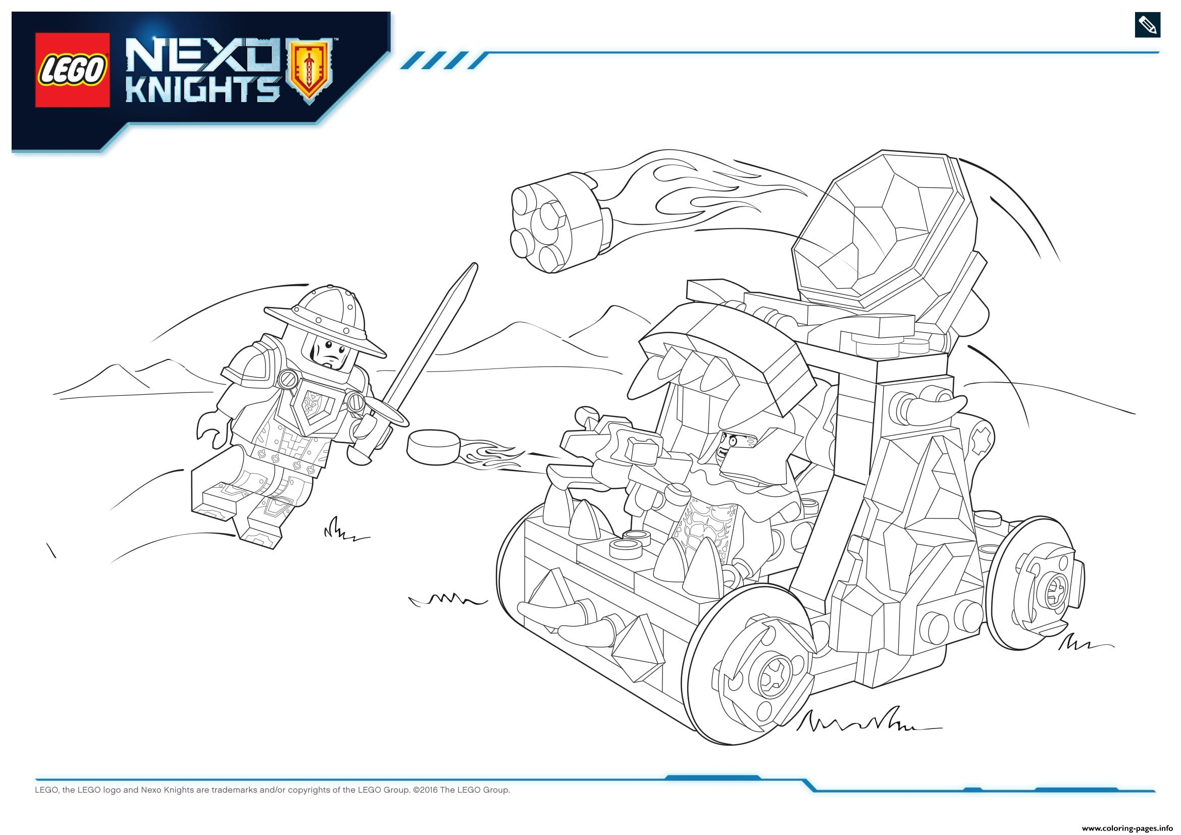 lego nexo knights le repaire volcanique de jestro 2 coloring pages - Knight Coloring Pages 2
