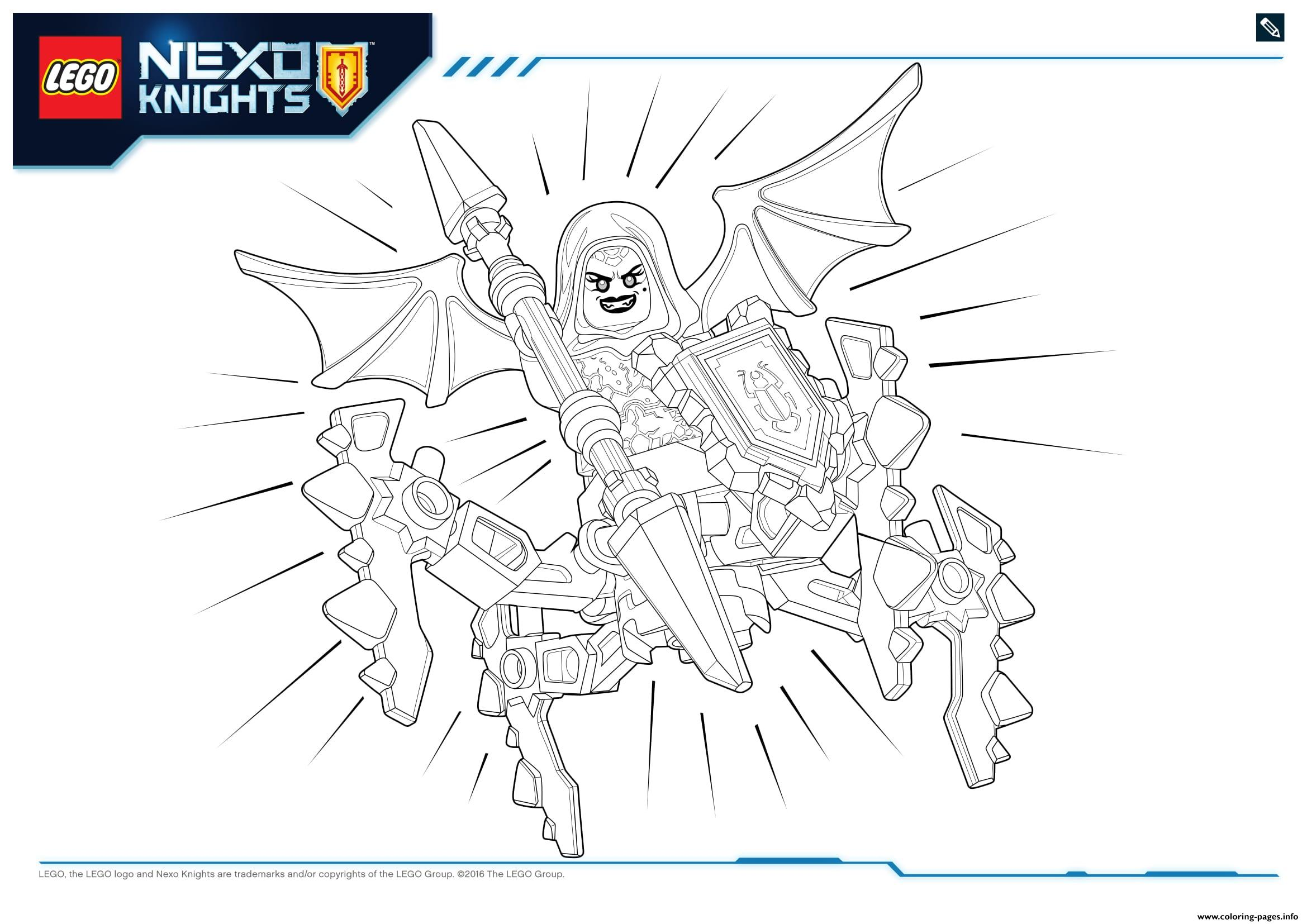 Coloring pages nexo knights - Coloring Pages Nexo Knights 50