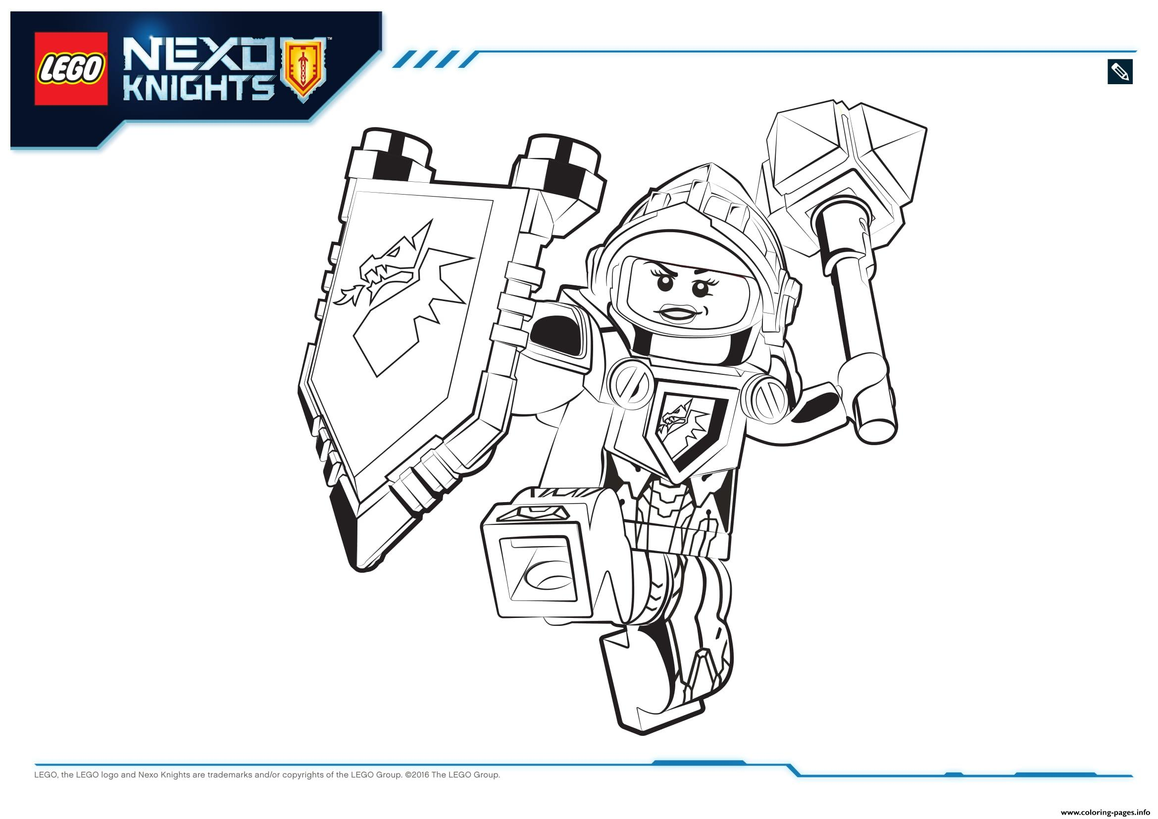 lego nexo knights macy 1 coloring pages