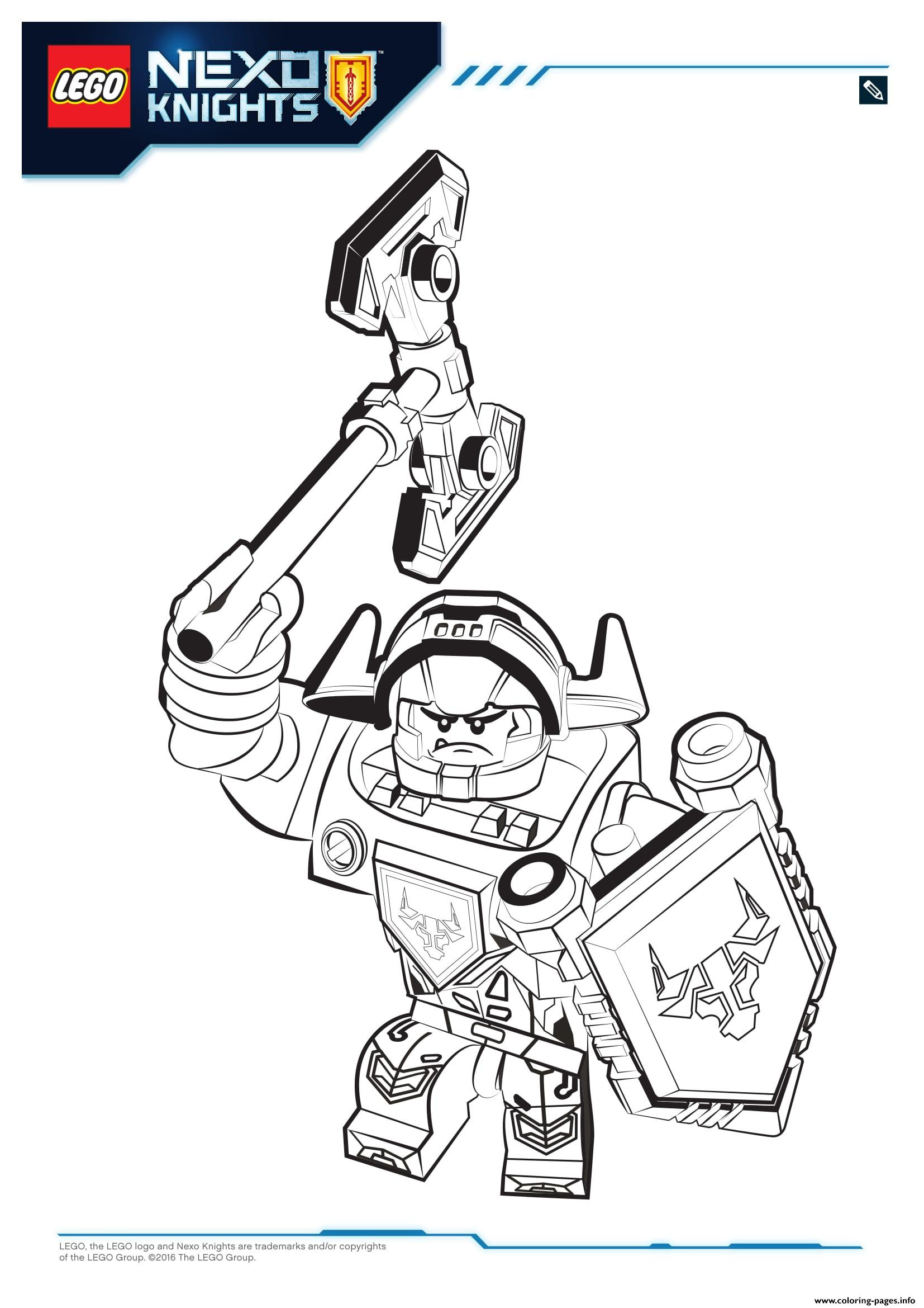 Nexo Knight Coloring Pages Lego Nexo Knights Coloring Pages Free