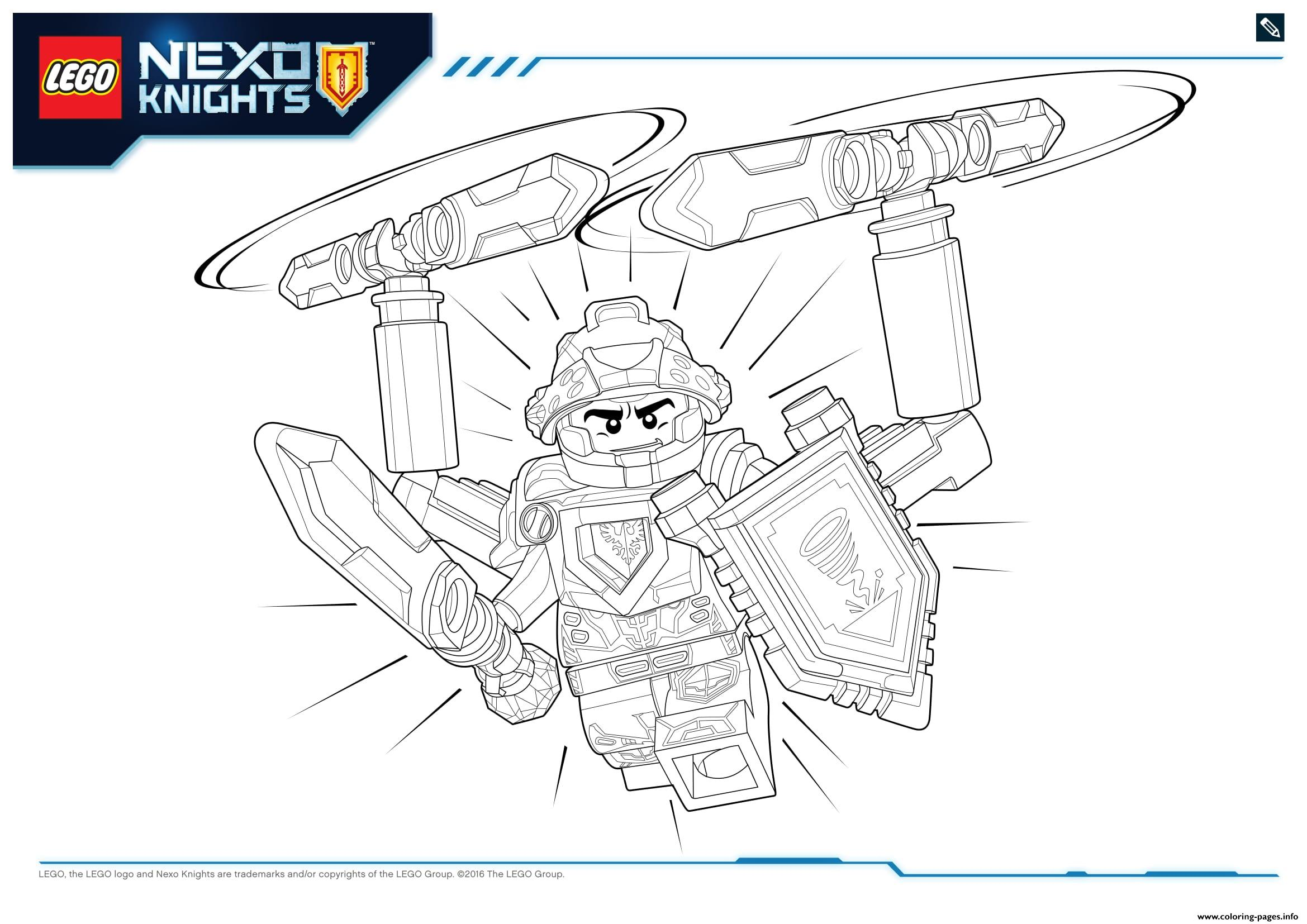 Lego Nexo Knights Ultimate Knights 2 Coloring Pages Printable