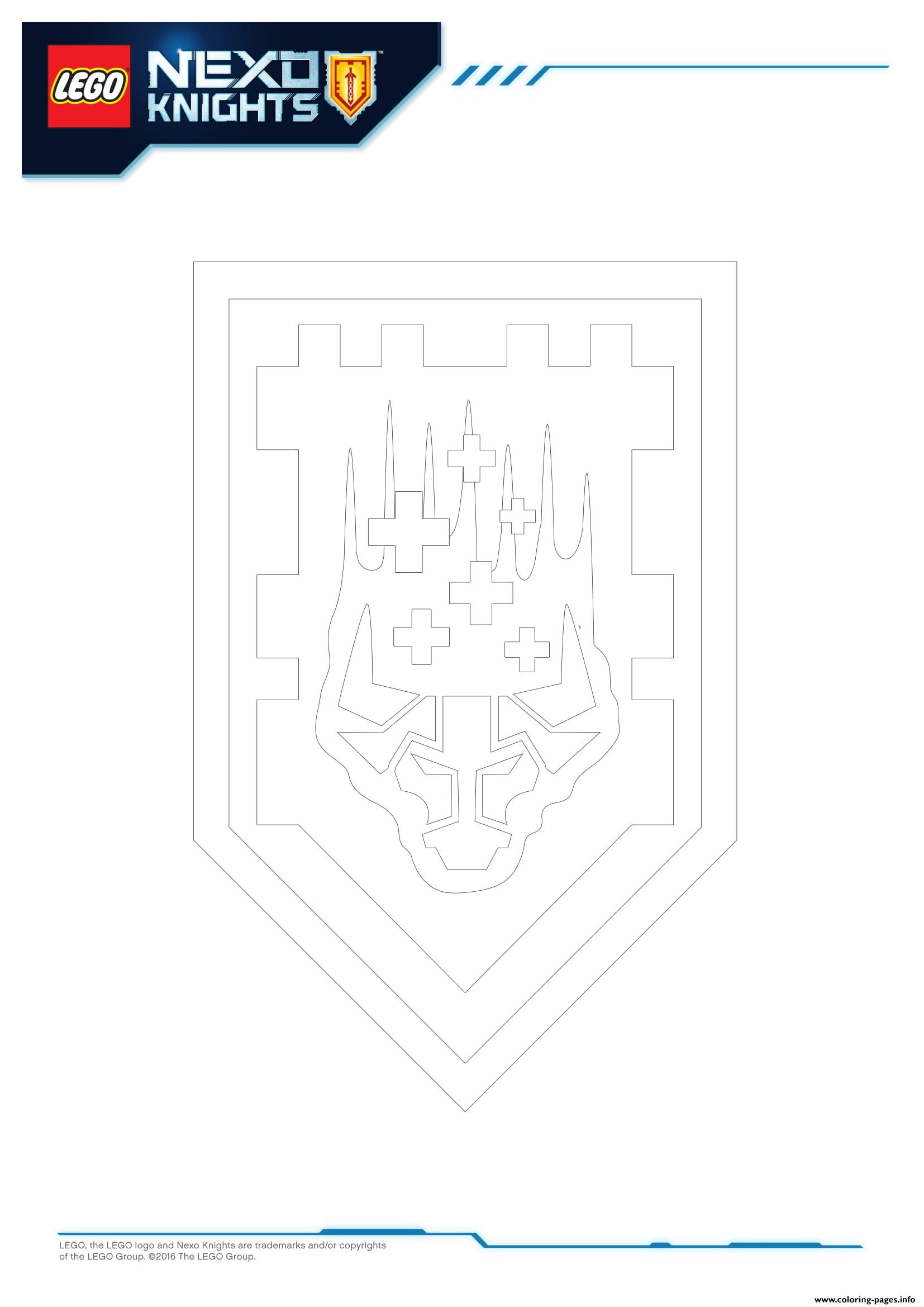 Lego Nexo Knights Shields 4 coloring pages