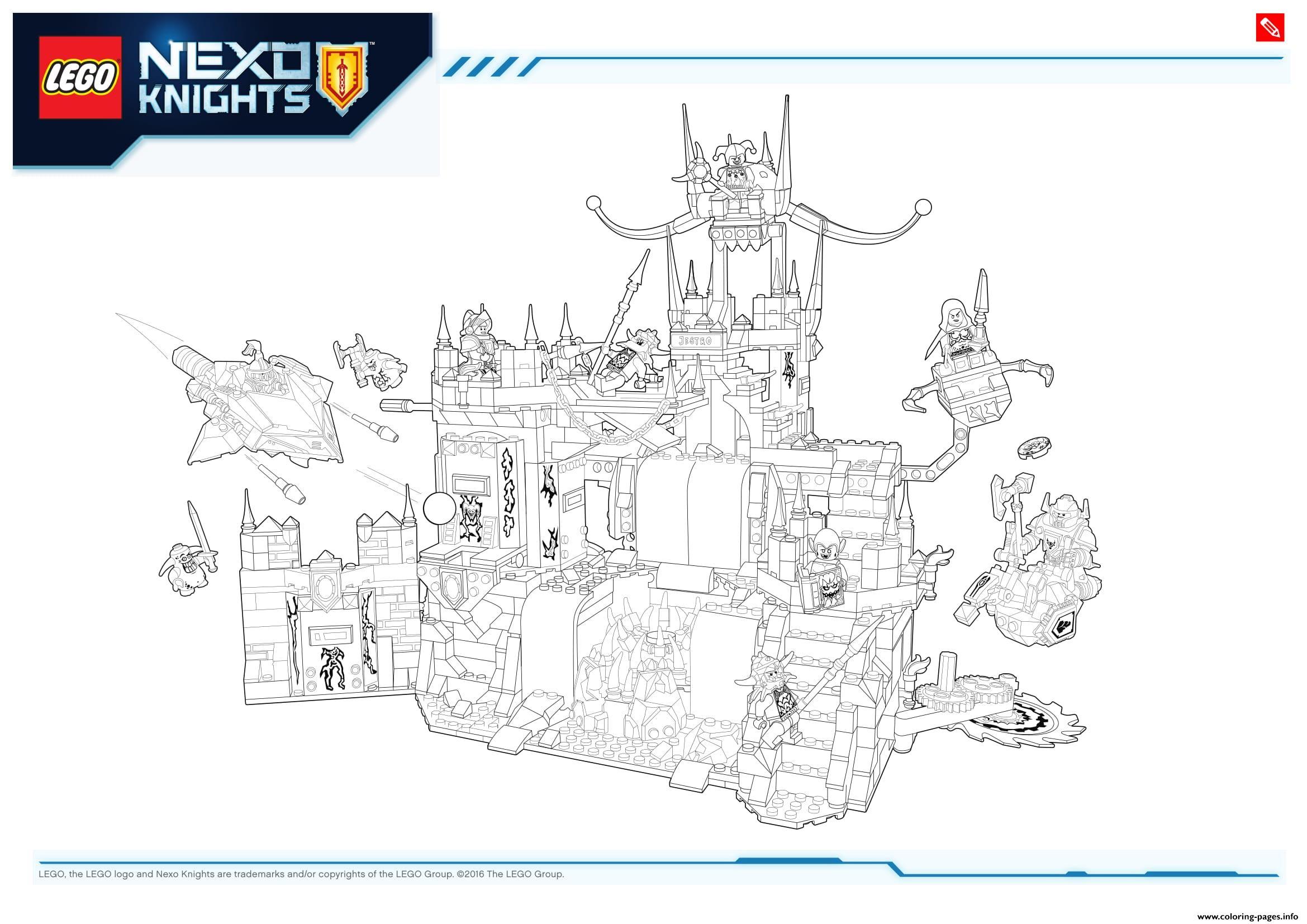 Lego Nexo Knights Le Repaire Volcanique De Jestro 1