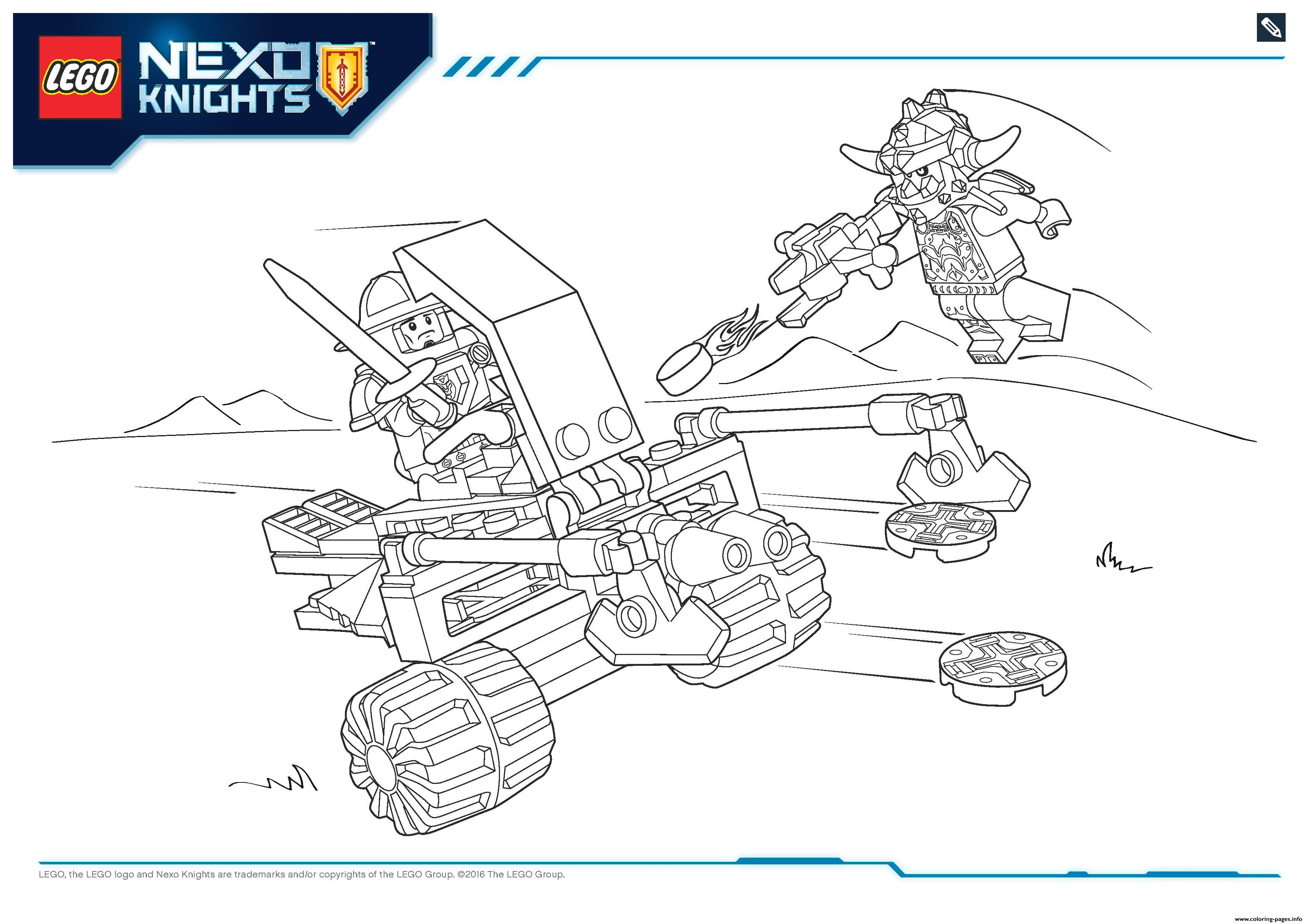 Lego Nexo Knights File Page2 Coloring Pages Printable