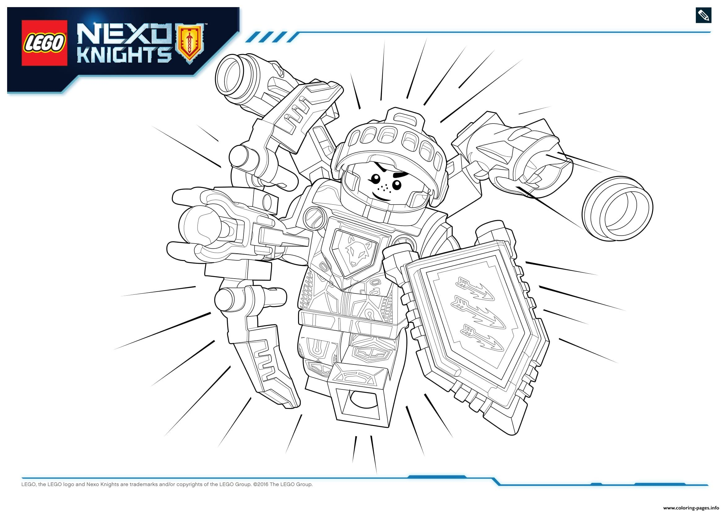 Lego Nexo Knights Ultimate 3 Coloring Pages