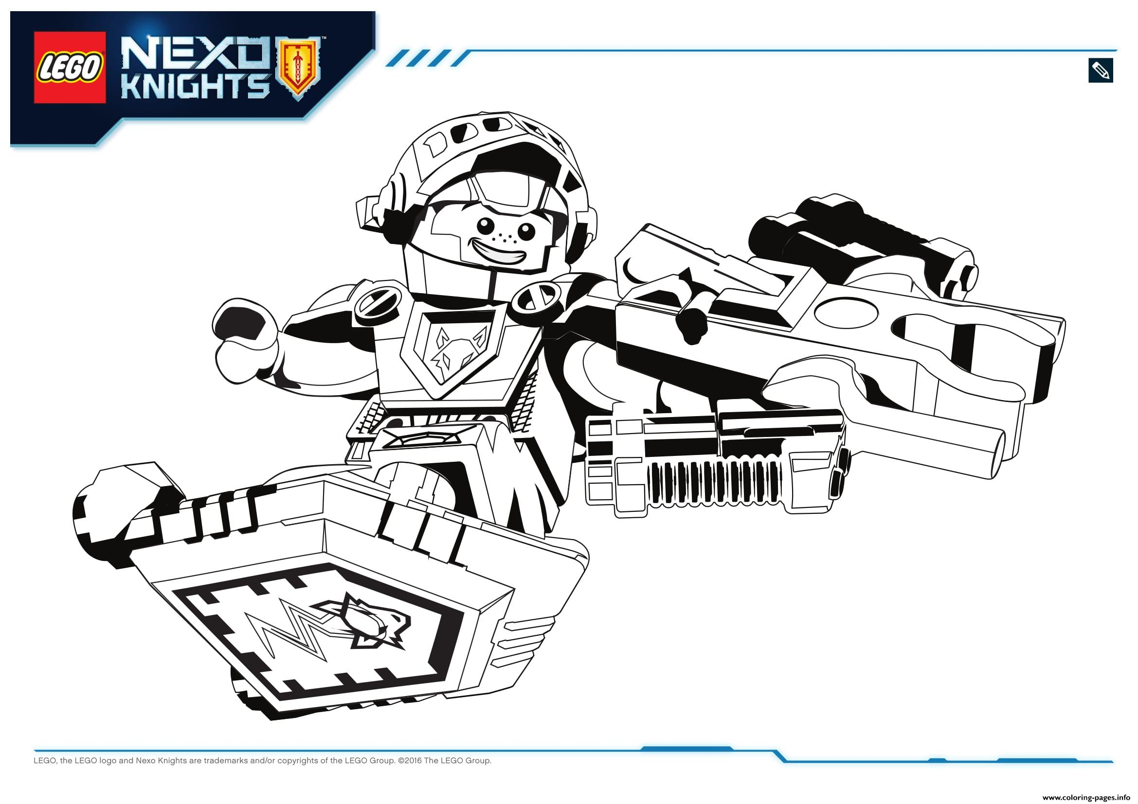 lego nexo knights aaron 1 coloring pages printable
