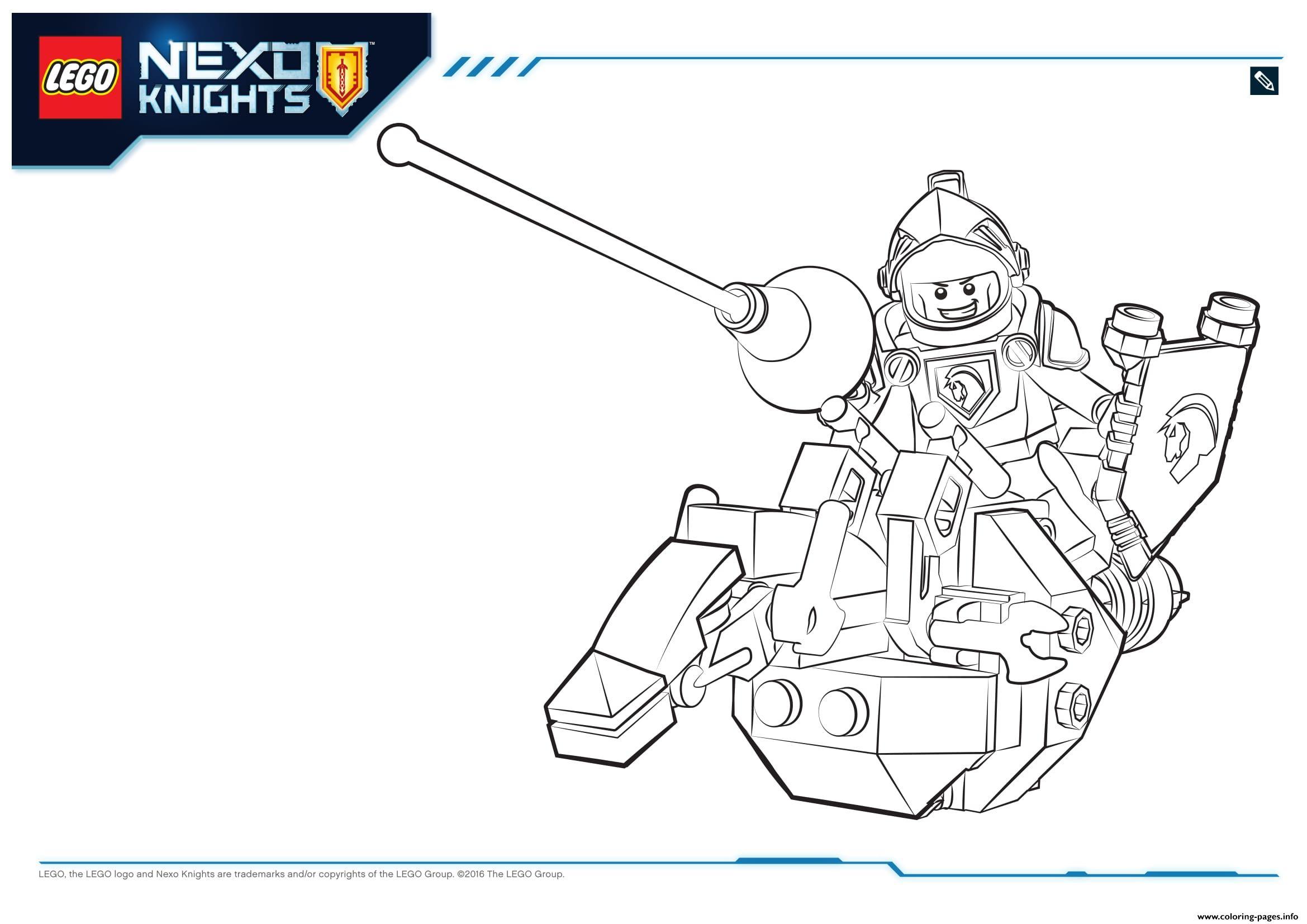 Lego Nexo Knights Lance 1 coloring pages