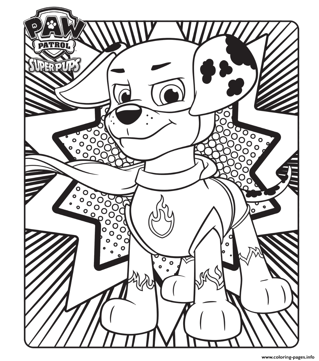 Download Coloring Pages Paw Patrol Super Pups Download Coloring Pages Printable