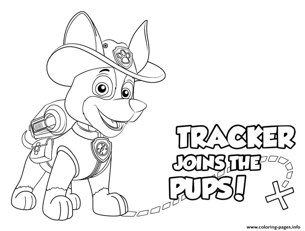Paw Patrol Tracker Pups Coloring Pages Printable