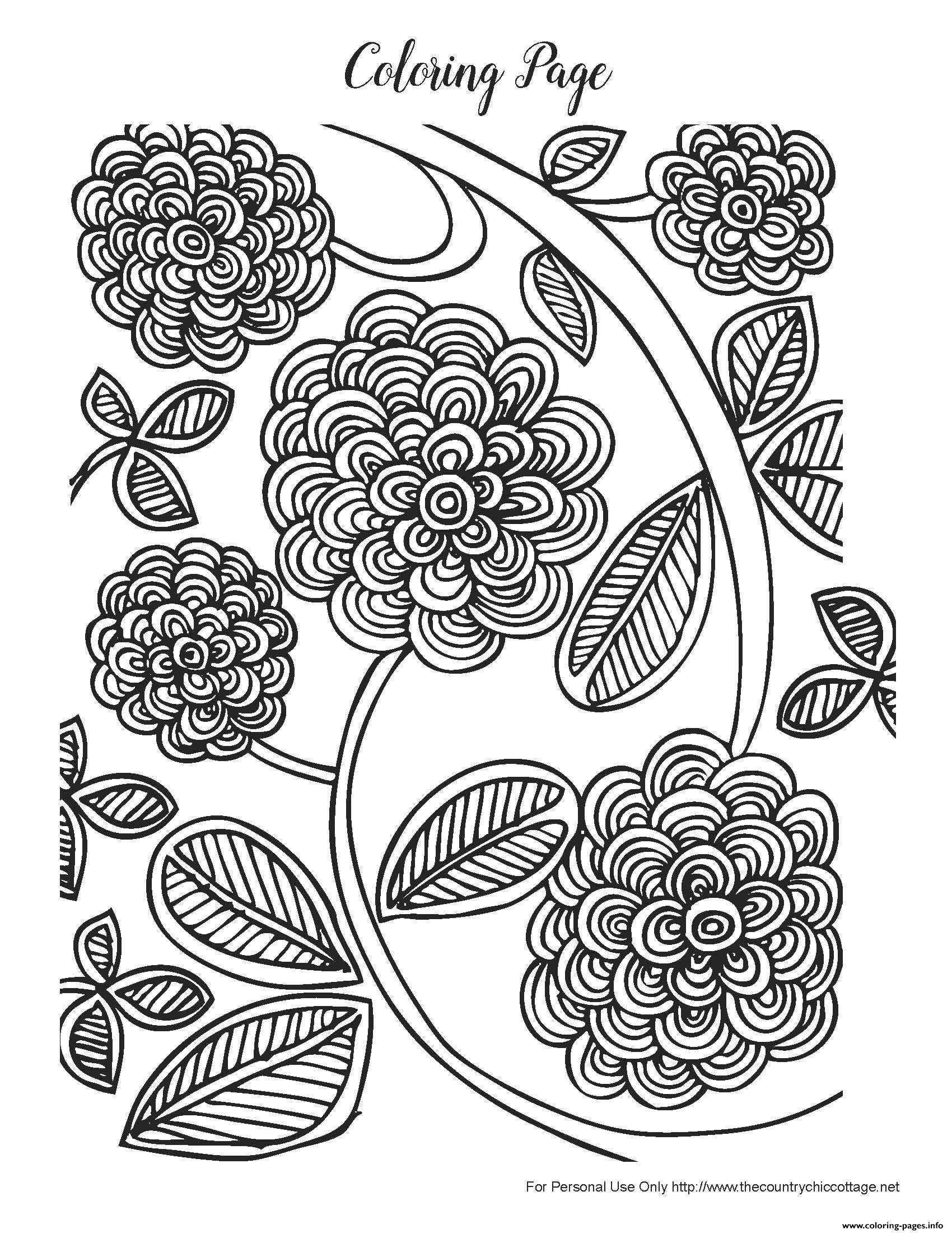 Free Spring Adult Coloring Pages Printable