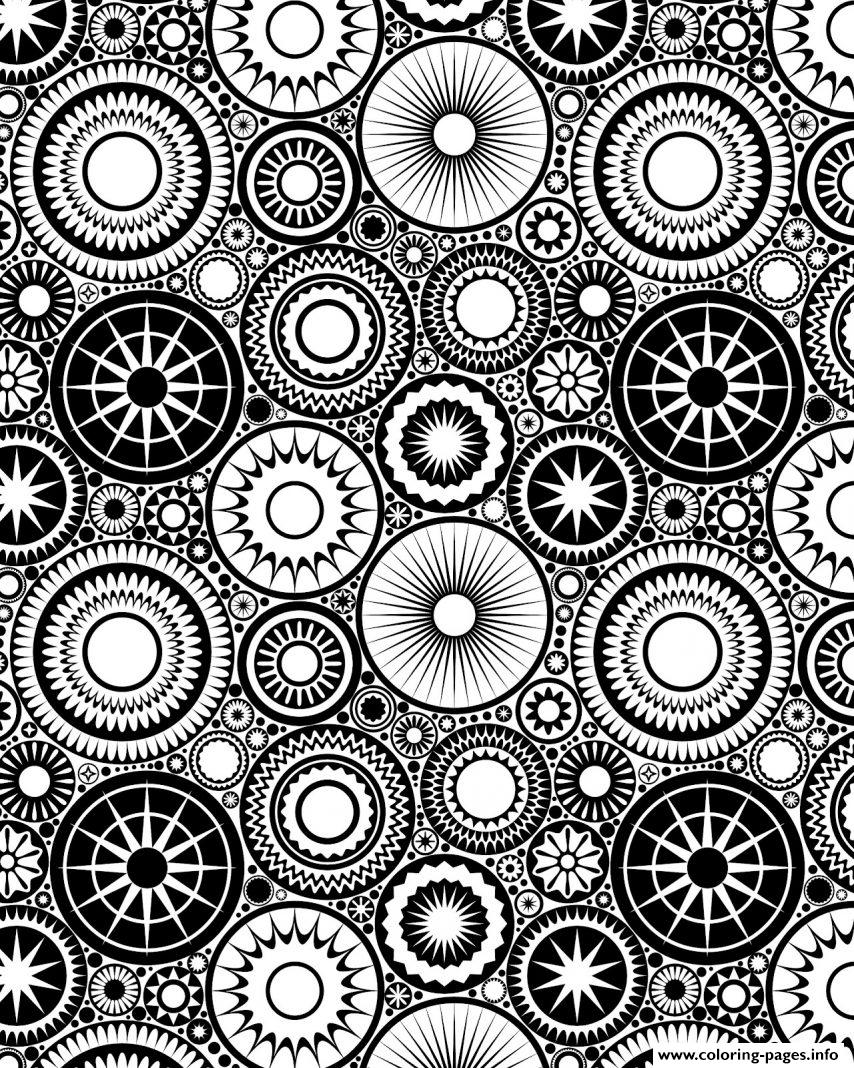 Patterns circles adult zen coloring pages printable for Circle pattern coloring pages