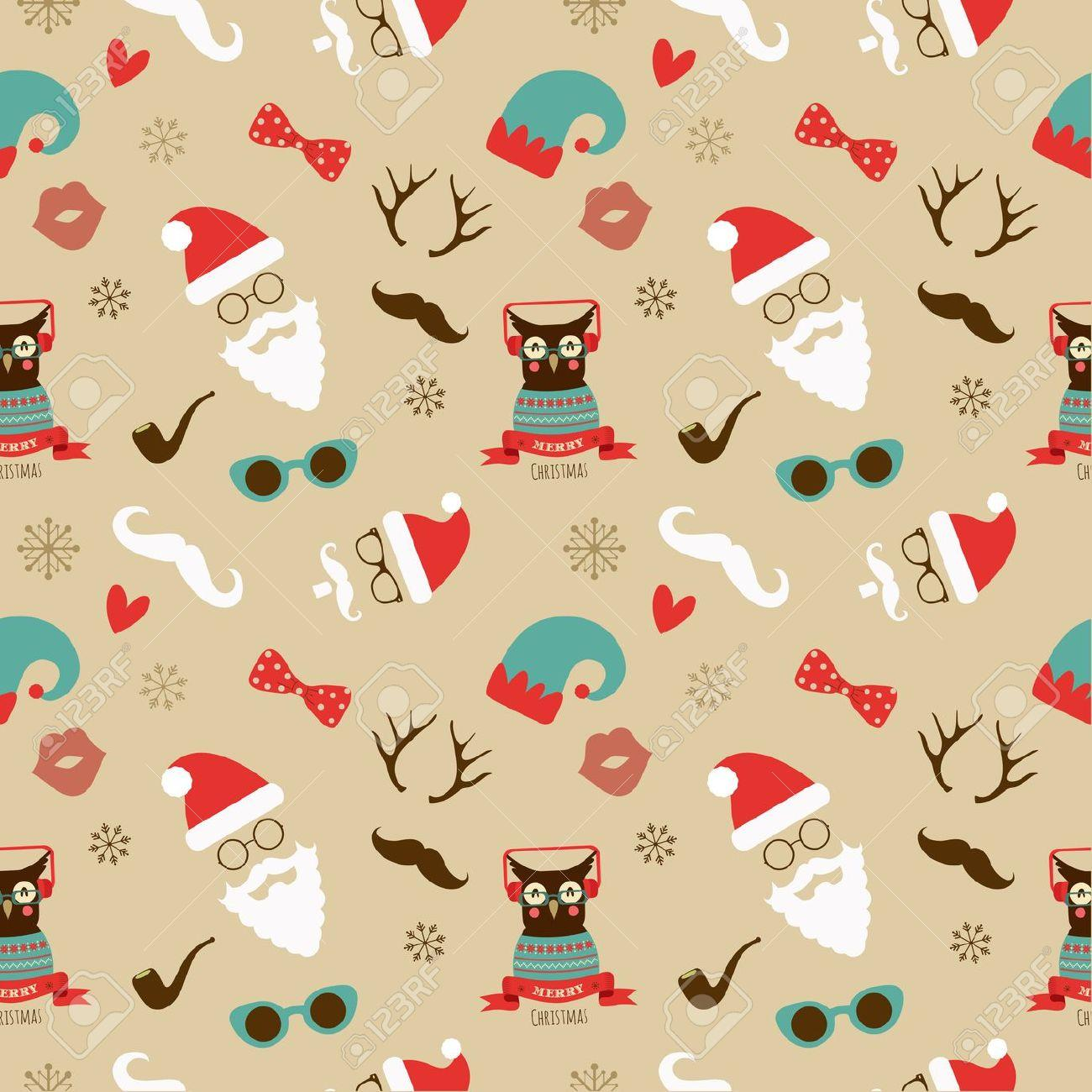 24477358 Vector Christmas Hipster