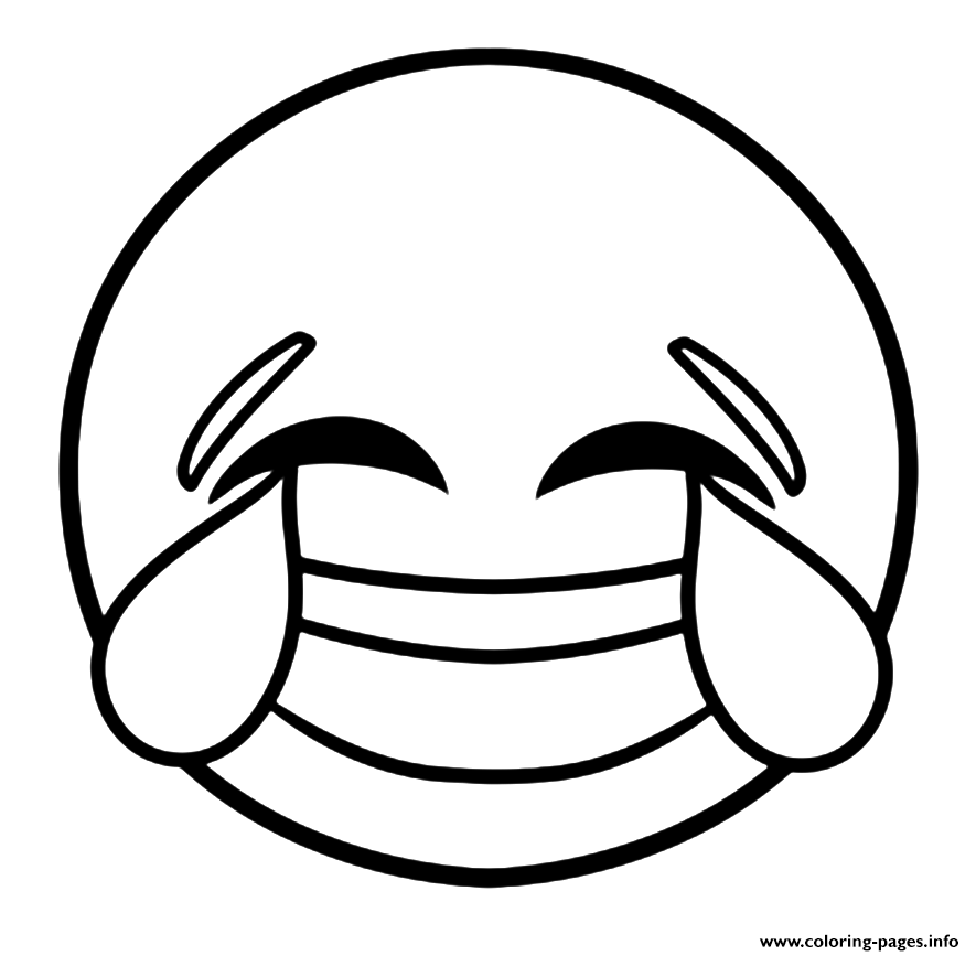 emoji laughing face with tears of joy coloring pages