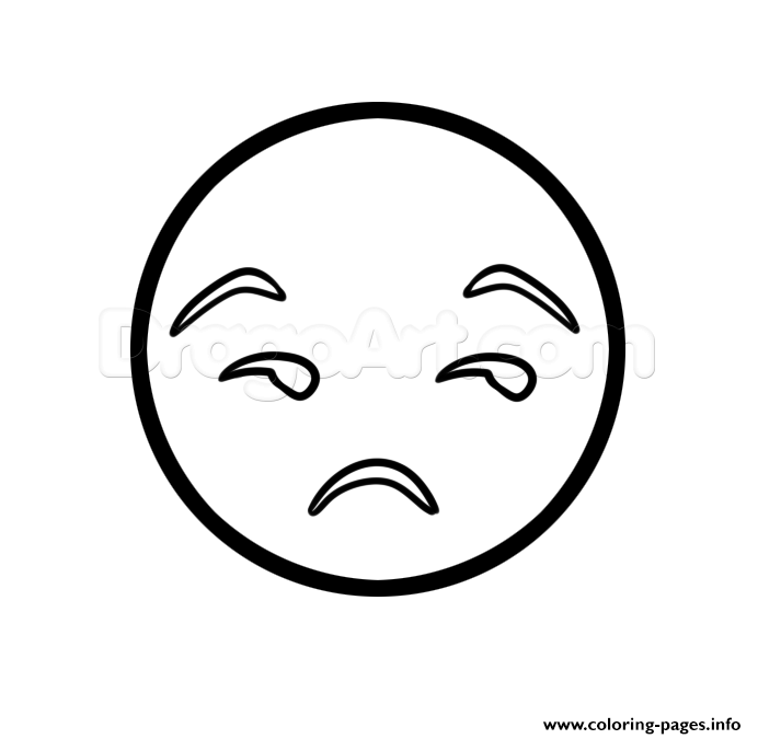 Emoji Unamused Displeased Look coloring pages