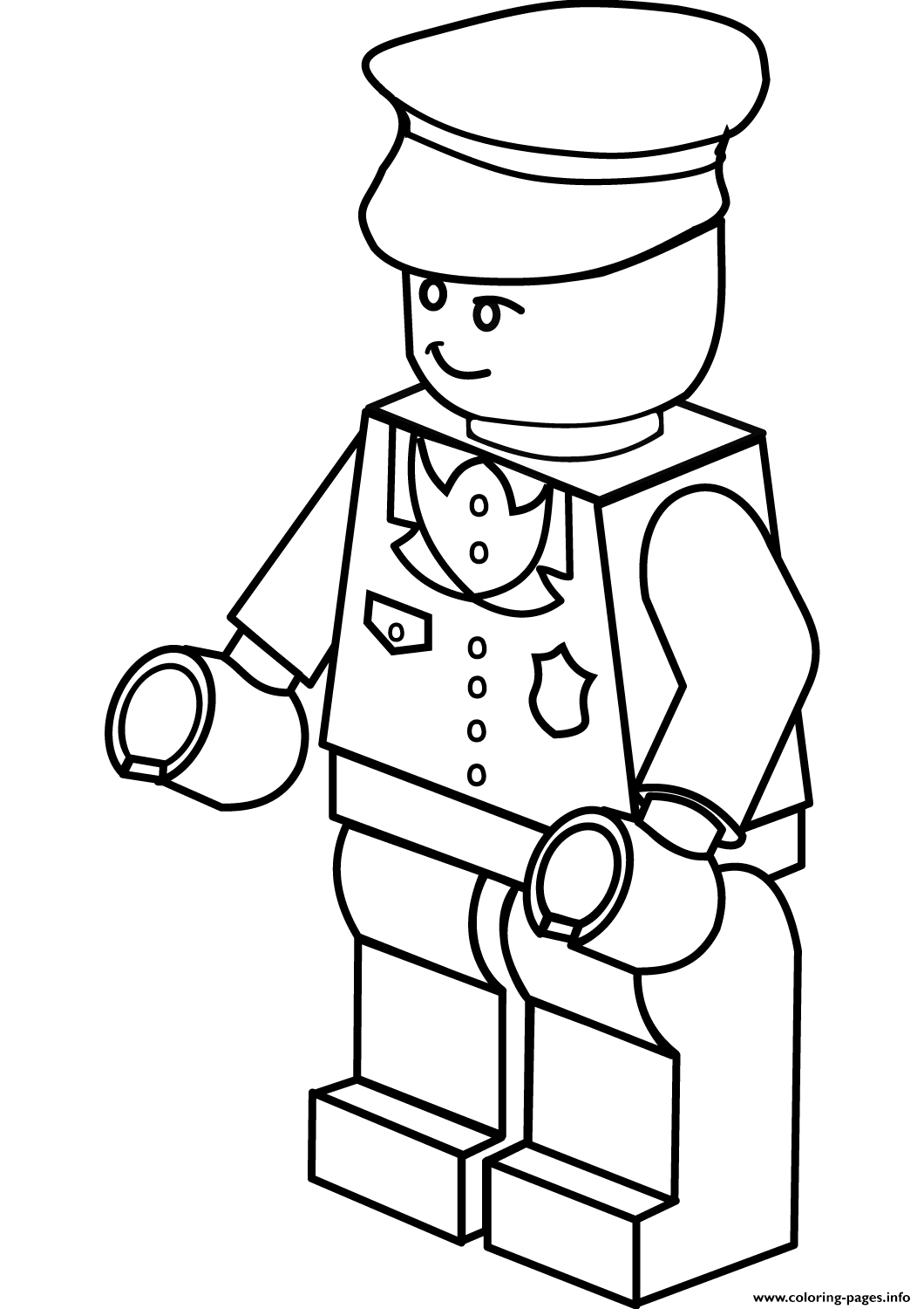 lego policeman coloring pages printable