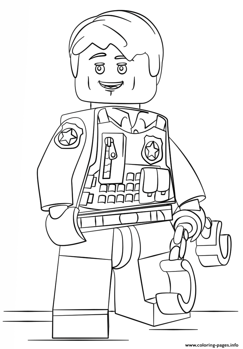 Lego Undercover Police Coloring Pages Printable