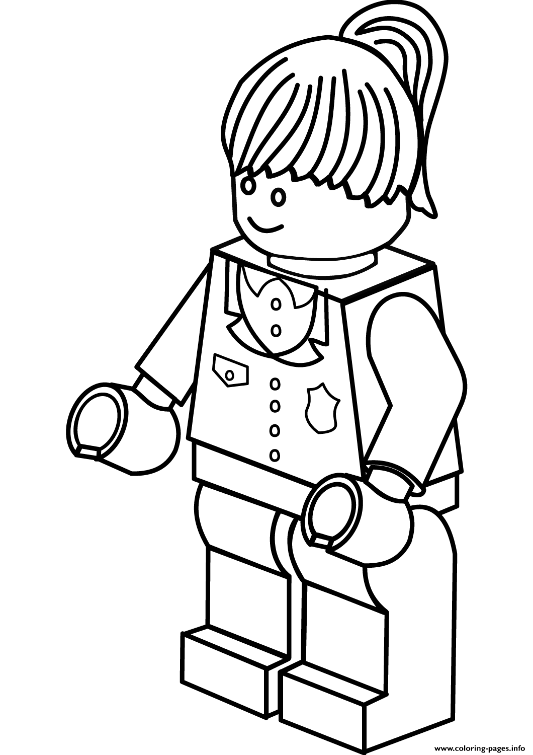 woman coloring pages - lego police woman coloring pages printable