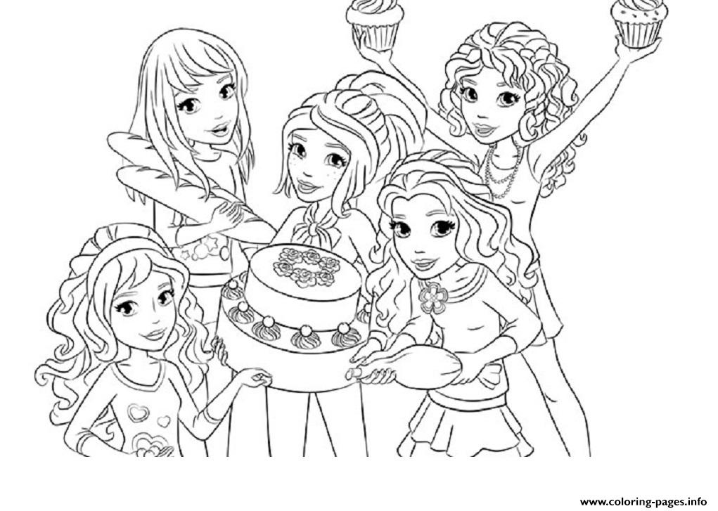 Lego Friends Food Coloring Pages