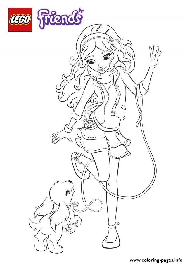 Lego Friends Dog Coloring Pages Printable