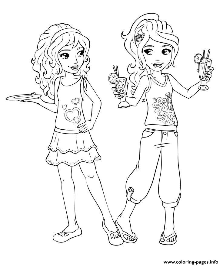 Lego Friends Having Fun coloring pages