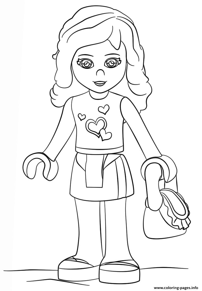 coloring pages of lego friends - lego friends olivia girl coloring pages printable