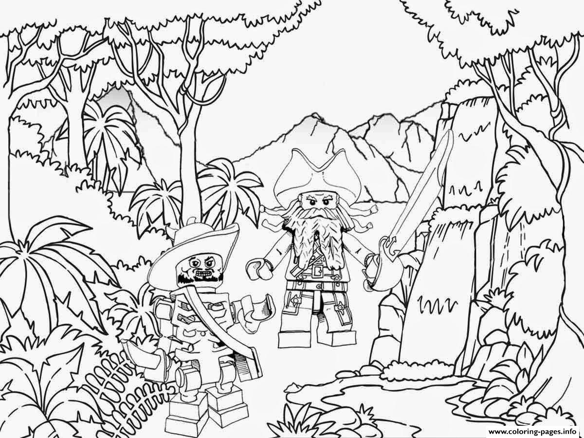 lego pirates jungle coloring pages - Free Lego Coloring Pages