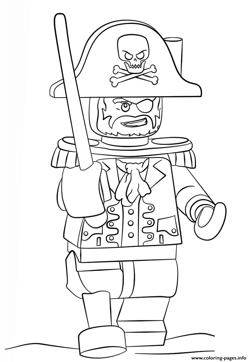 Lego Pirate Coloring Pages Printable