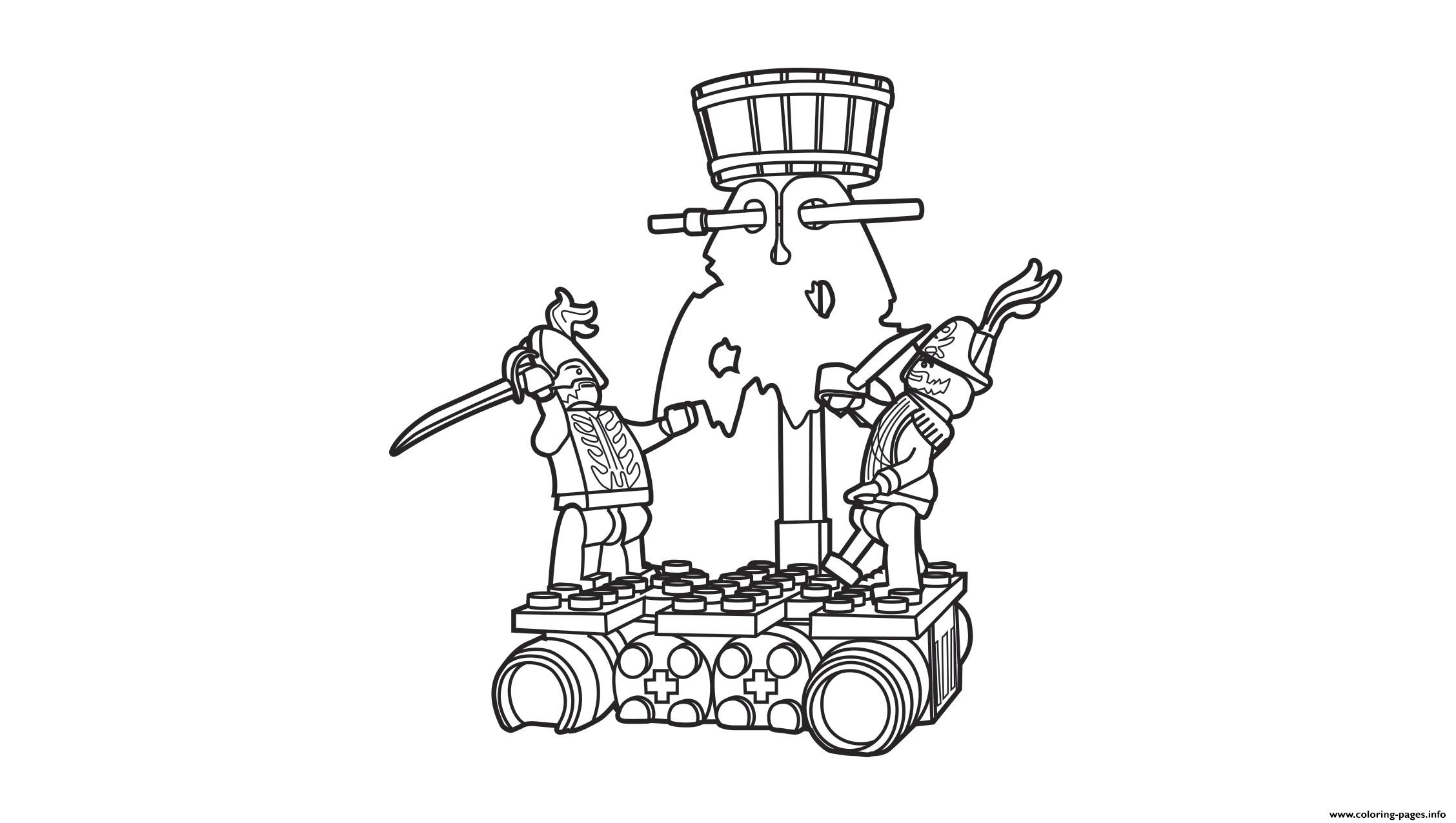 Lego Pirates Destroy Boat Coloring Pages Printable