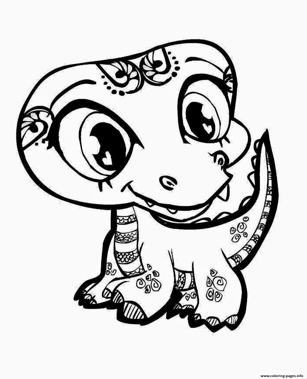Cute Dinosaur For Girls Coloring Pages Printable