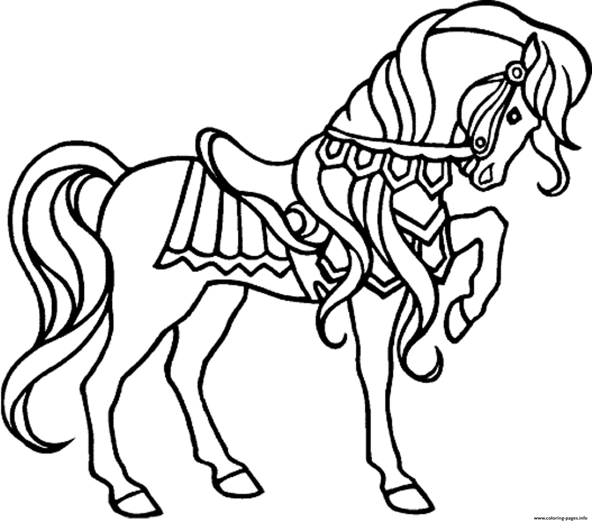 elegant horse for girls coloring pages