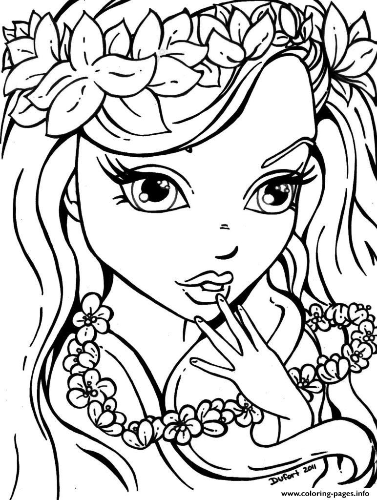 cute girl sheet coloring pages