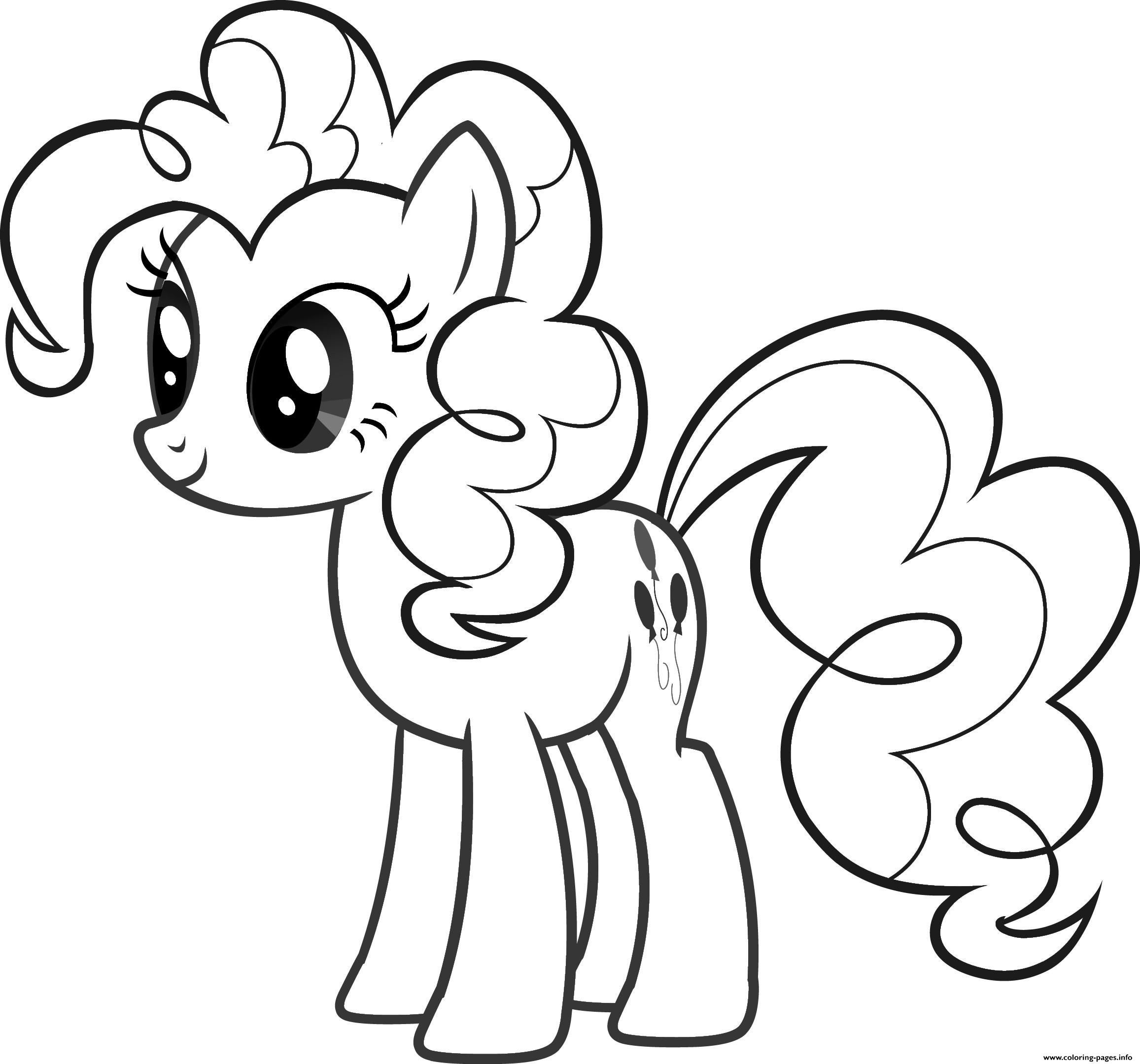 cute pony for girls coloring pages
