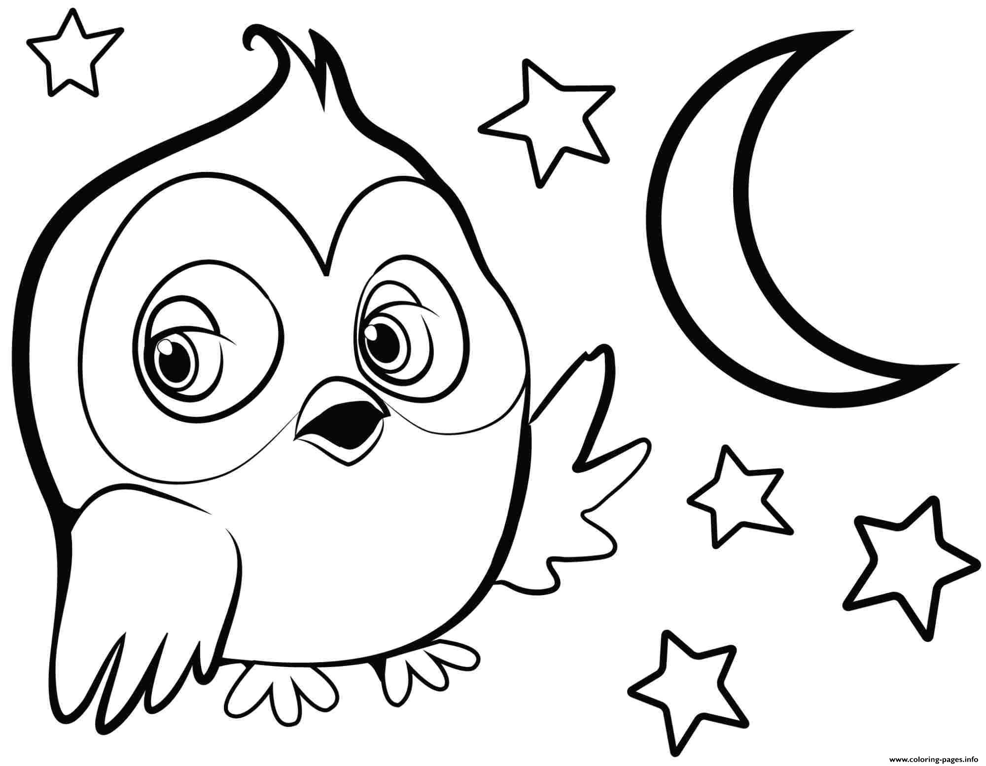 cute owl for girls coloring pages