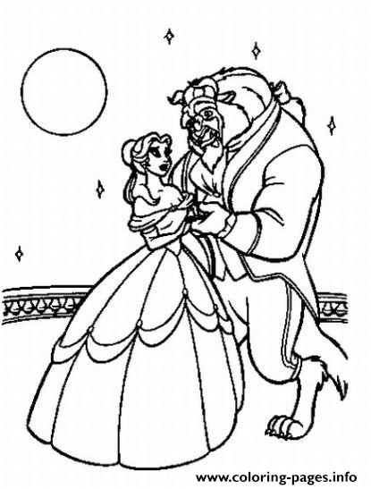 Belle Dancing Under The Moonlight 4b9e Beauty And Beast Disney coloring pages