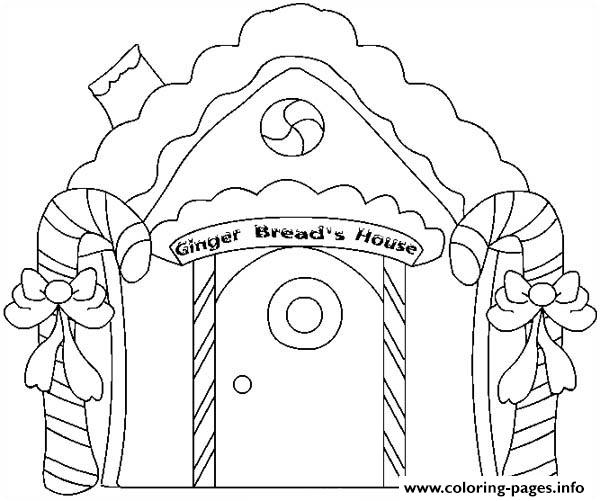Gingerbread House Candy 1 Coloring Pages Printable