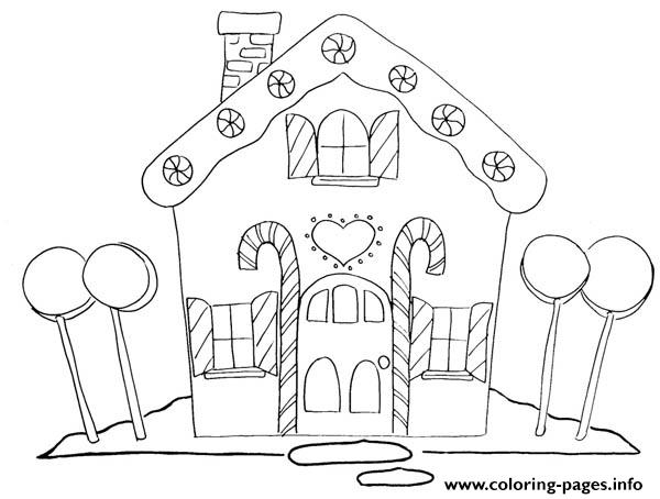 photo regarding Gingerbread House Printable identified as Xmas Gingerbread Household 2 Coloring Web pages Printable