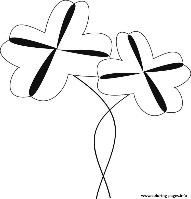 Two Shamrocks coloring pages
