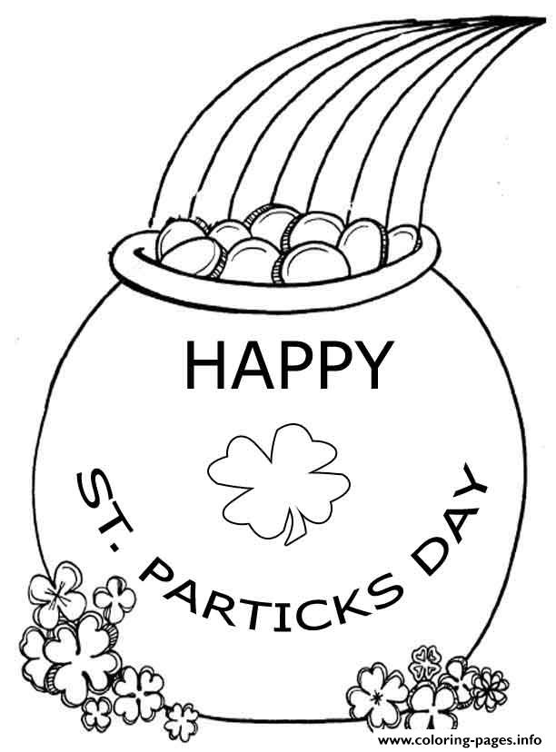 Happy St Patricks Day 2 Coloring Pages Printable