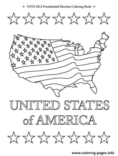 United States Of America Happy Presidents Day coloring pages