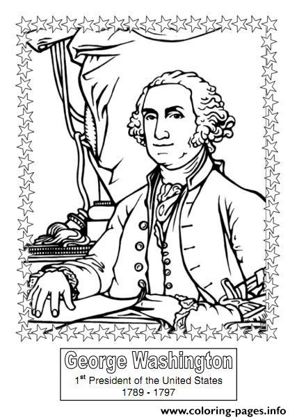 image about Printable Pictures of George Washington referred to as President Working day George Washington Coloring Web pages Printable